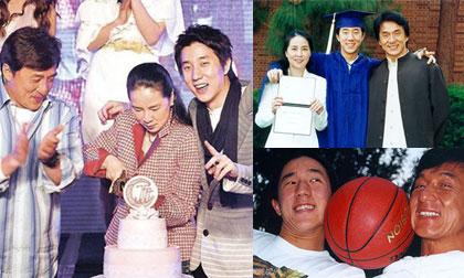 Những bức ảnh gia đình hiếm hoi của cha con Thành Long