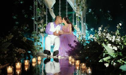Bộ ảnh cưới đẹp như mơ với sắc trắng tím
