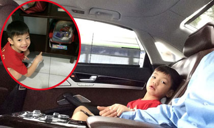 Cường Đô la đi xe sang đưa bé Subeo đi học khi Hà Hồ vắng nhà