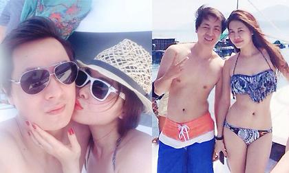 Vợ chồng Đăng Khôi tình tứ như vợ chồng son đi nghỉ trăng mật trên biển