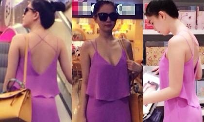 Ngọc Trinh khoe lưng trần cô Tấm đi shopping
