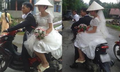 Cô dâu đi dép lê khi vu quy khiến dân mạng bất ngờ
