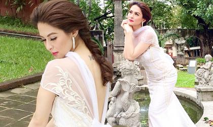 'Mỹ nhân đẹp nhất Philippines' gây chú ý khi khoe ảnh mặc váy cưới