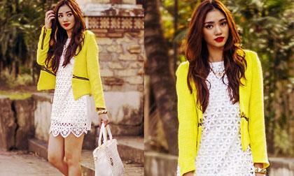 Thời trang thu 'ngọt lịm' của cô gái xinh đẹp châu Á