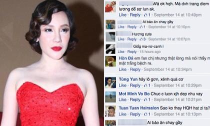 Hồ Quỳnh Hương bị fan chê trang điểm như... 'cải lương'