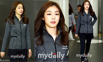 'Nữ hoàng sân băng' Kim Yuna giản dị vẫn đẹp rạng ngời