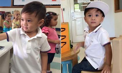 Bé Jacky Minh Trí thích thú ngày đầu đến trường