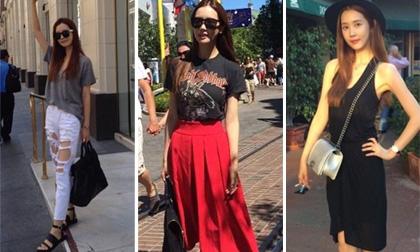 Lee Da Hae khoe street style 'cực chất' tại Mỹ