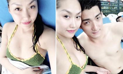 Phi Thanh Vân khoe thân hình 'mướt mải' bên người yêu