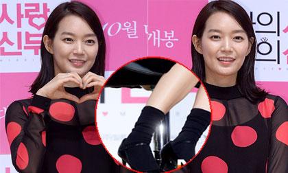 'Hồ ly' Shin Min Ah lôi thôi vì mix tất ngắn cùng giày cao gót