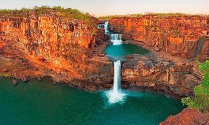 Chiêm ngưỡng thác nước 4 tầng tuyệt đẹp ở Australia