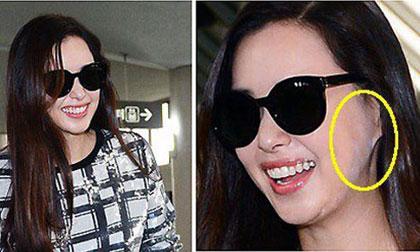 Cựu Hoa hậu Honey Lee lộ mặt loang lổ phấn như bị nấm mốc
