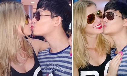 Nathan Lee hôn thắm thiết 'bạn gái' Tây xinh đẹp