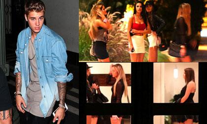 Justin Bieber dắt dàn gái lạ về nhà sau khi chia tay Selena
