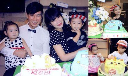 Con trai Lý Hải lém lỉnh trong tiệc sinh nhật lên 3
