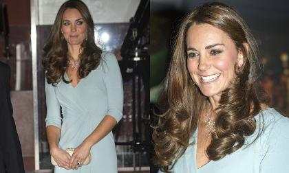Công nương Kate tái xuất thon gọn dù đang mang bầu