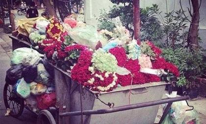Bức ảnh 'bãi rác hoa' sau ngày 20/10 gây bão trên mạng xã hội