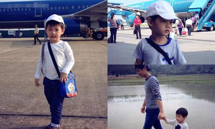 Con trai Đăng Khôi lần đầu theo bố mẹ về thăm quê ngoại