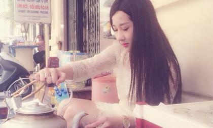 Lại xuất hiện hot girl bán trà đá mới ở Hà Nội