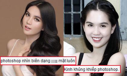 Ngọc Trinh lại gây tranh cãi vì photoshop đến biến dạng