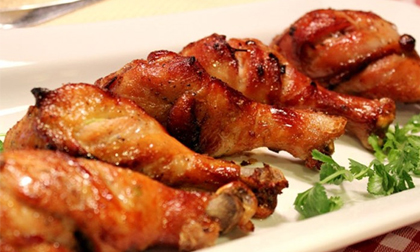 Cách làm món đùi gà xốt chua cay, gà nướng chanh ớt cực ngon