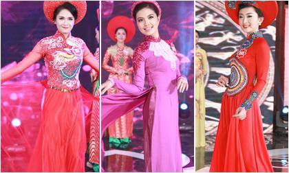 Ngắm dàn thí sinh Hoa hậu phía Bắc khoe dáng với áo dài