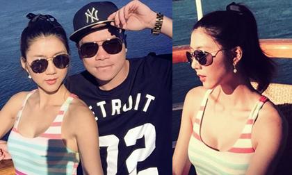 Ngọc Quyên 'trốn chồng' đi chơi biển cùng bạn