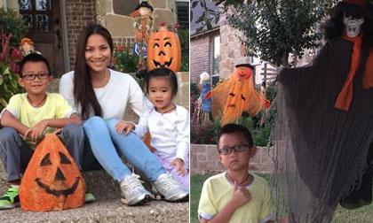 Hồng Ngọc khoe ảnh Halloween rầm rộ ở xóm