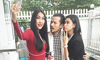 """Hùng Cửu Long, Phi Thanh Vân """"nhắng nhít"""" tại trường quay"""