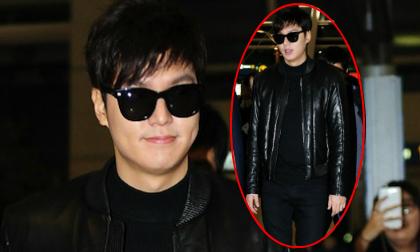 Lee Min Ho 'đen từ đầu tới chân' tại sân bay