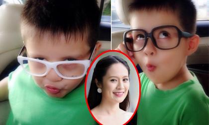 Biểu cảm gương mặt cực hài hước của con trai Thanh Thúy