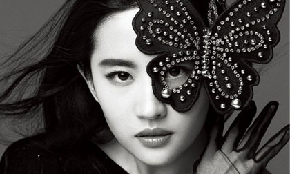 Lưu Diệc Phi đẹp tựa nữ thần trên tạp chí Bazaar