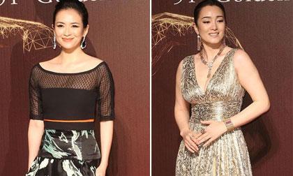Củng Lợi và Chương Tử Di 'đọ sắc' trên thảm đỏ 'Oscar Hoa ngữ'