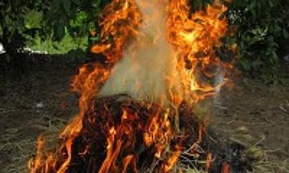 Cha chất rơm đốt con vì 'dám' lấy mì tôm của bà nội