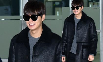 Lee Min Ho ấn tượng với áo da lạ mắt