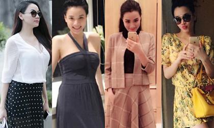 Học lỏm gu thời trang sành điệu của bà bầu Trang Nhung