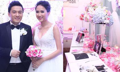 'Đột nhập' không gian tiệc cưới 'ngập' hoa của Lam Trường và vợ 9x