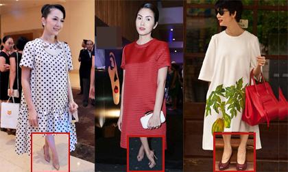 Những sao Việt bầu bí vẫn không ngại diện giày cao gót