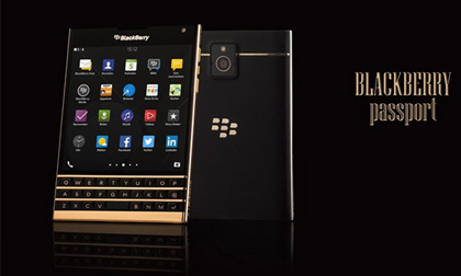 Mở hộp BlackBerry Passport mạ vàng nguyên khối tại Việt Nam