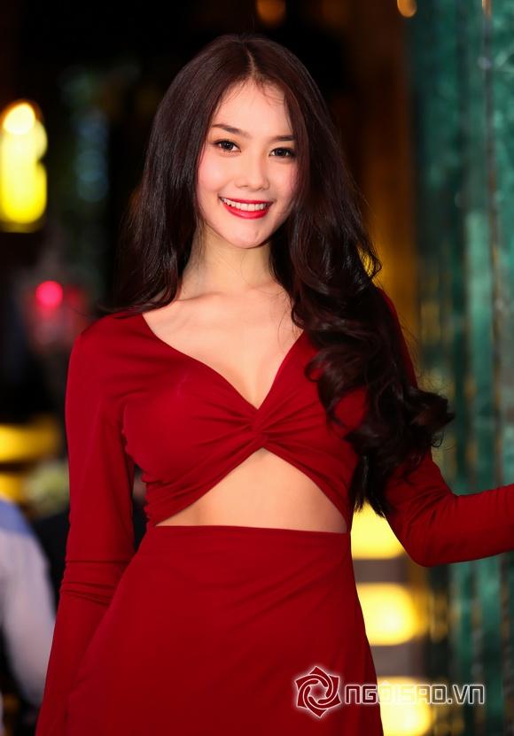 Sao việt,sao viet,á hậu linh chi,hoa hậu phụ nữ việt nam qua ảnh,linh chi diện váy đỏ