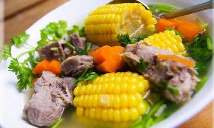 Cách nấu canh sườn hầm ngô thơm ngon, bổ dưỡng
