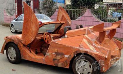 Siêu xe Lamborghini mui trần bằng gỗ
