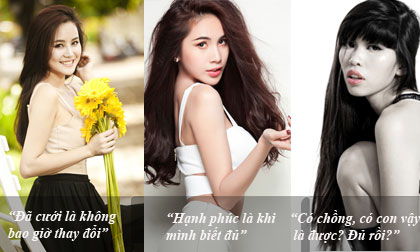 Mỹ nhân Việt quan niệm thế nào về hôn nhân?