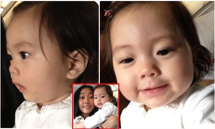 Biểu cảm 'cực yêu' của con gái Đoan Trang lần đầu đi máy bay