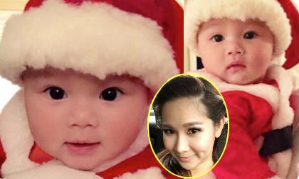 Con gái Duy Uyên làm 'Bà già Noel' siêu đáng yêu