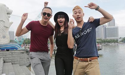 """""""Lộ ảnh"""" Duy Anh, Đăng Khánh, Quỳnh Châu sang Singapore"""