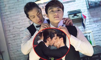 Lâm Vinh Hải hôn bạn trai đồng tính đắm đuối trong 'lễ cưới'