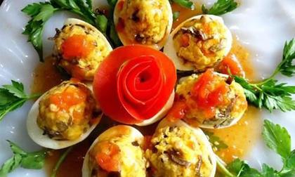 Cách làm món trứng nhồi thịt ngon mà làm đơn giản
