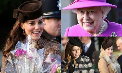 Hoàng gia Anh nô nức đón Giáng sinh với váy áo sang trọng