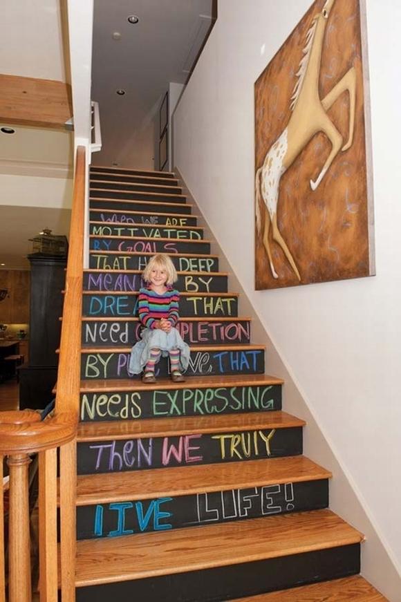 cầu thang, trang trí cầu thang, cầu thang đẹp, nội thất, nhà đẹp, tin ngoi sao